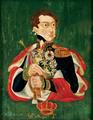 Retrato do Rei D. Miguel I (séc. XIX) - José Ribeiro de Carvalho, óleo sobre folha de zinco.png