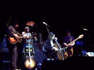 Rheostatics - Rheostatics' final show at Massey Hall, 2007. From left to right: Bidini, Clark, Kerr and Vesely