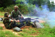 Richard Castanet fires Mark-19 in Quantico September 2000