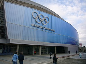 Die Fassade des Richmond Olympic Oval (2008)
