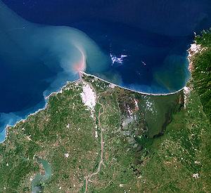 Magdalena River - Image: Rio Magdalena Delta landsat