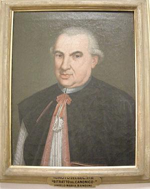 Angelo Maria Bandini - Image: Ritratto del canonico angelo maria bandini, xviii sec