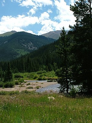 Montezuma, Colorado - The scenic drive from Keystone to Montezuma.
