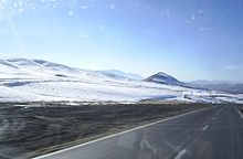 Road near to Aligoodarz at winter.JPG