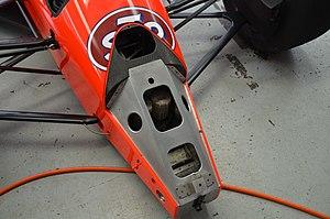 Vince Granatelli Racing - The area where Guerrero's car was damaged.