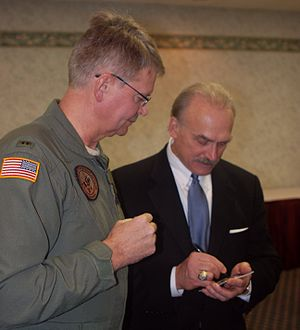 Rocky Bleier - Bleier signs an autograph at the North Dakota National Guard's 2009 Safety Conference in Bismarck.