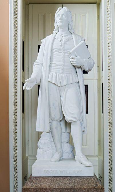 Roger Williams statue float