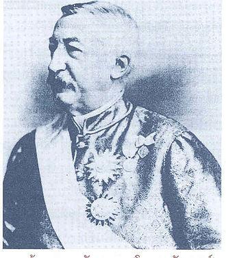 Gustave Rolin-Jaequemyns - Rolin-Jaequemyns in a traditional Thai garment.