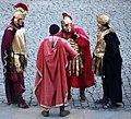 Rom, die römische Garde vor den Kolosseum.JPG