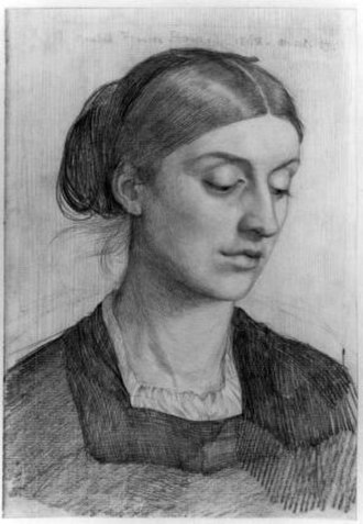 Rosalind Howard, Countess of Carlisle - Rosalind Howard portrayed by her husband George in 1868.