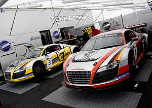 Audi R8 - Two Audi R8 LMSs competing in the FIA GT3 European Championship