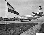 Rotterdam opgenomen in de luchtlijn Amsterdam Londen, de KLM viscount op het pla, Bestanddeelnr 910-7894.jpg