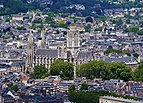 Rouen Côte Sainte-Cathérine Blick auf die Abbatiale Saint-Ouen 1.jpg