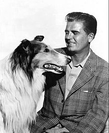 Rudd Weatherwax and Lassie 1955.JPG