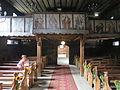 Rudziniec, kościół św. Michała Archanioła, wnętrze, widok w stronę organów.JPG