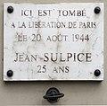 Rue René-Boulanger (Paris) - plaque Jean-Sulpice.jpg