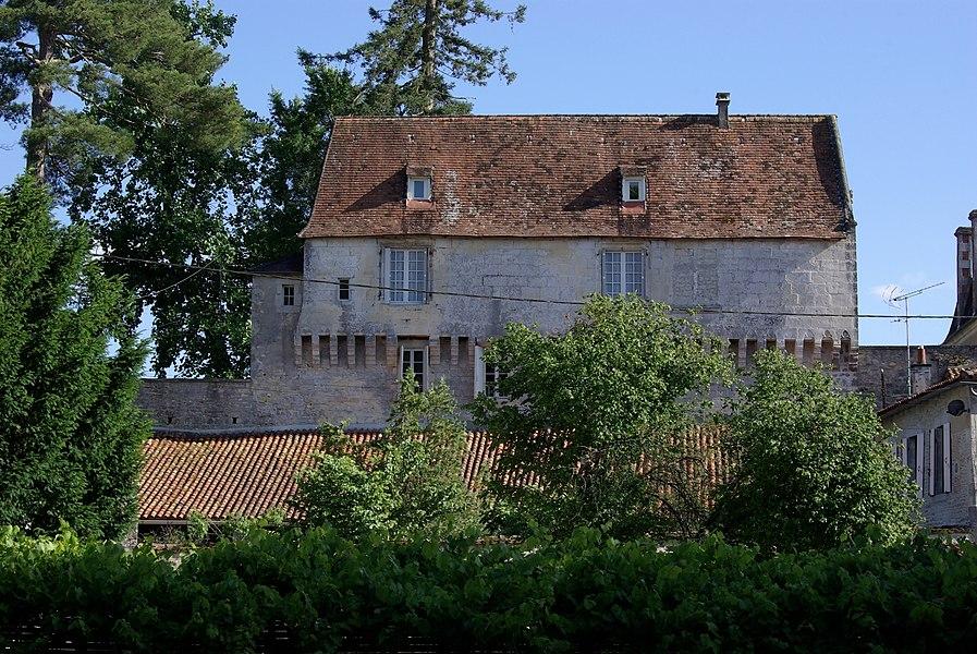 Castle of Ruffec, seen from rue de l'Abreuvoir. Ruffec, Charente, France