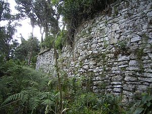Chachapoya culture - Walls of Soloco fortress, Chachapoyas, Peru
