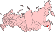 Location of the Jewish Autonomous Oblast in the Russian Federation.