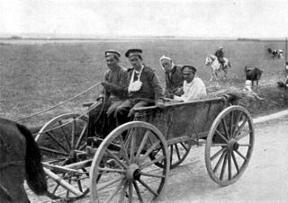 Telega Type of four-wheel horse-drawn vehicle, known in Russia and other countries