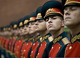 Russian honor guard at Tomb of the Unknown Soldier, Alexander Garden welcomes Michael G. Mullen 2009-06-26 2.jpg