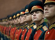 Russian honor guard at Tomb of the Unknown Soldier, Alexander Garden welcomes Michael G. Mullen 2009-06-26 2