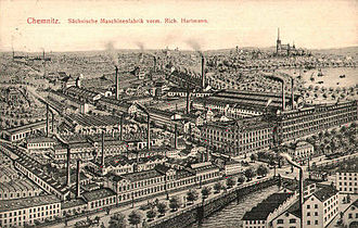 Sächsische Maschinenfabrik - The Sächsische Maschinenfabrik, formerly Richard Hartmann locomotive works (around 1905)