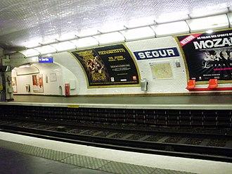 Ségur (Paris Métro) - Image: Ségur metro 02