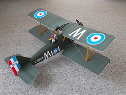 S.E.5a model aircraft from E-flite ARF kit