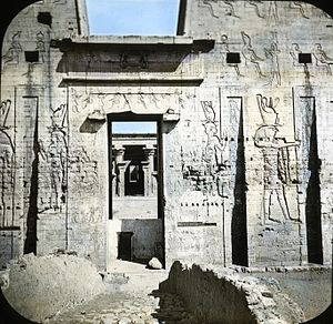 Temple of Edfu -  Door of the Pylon