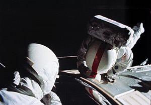 Ken Mattingly - Mattingly performs a deep-space EVA during Apollo 16