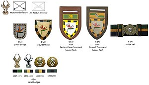6 South African Infantry Battalion - SADF era 6 SAI insignia