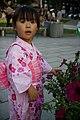 SAKURAKO wears a Japanese summer kimono. (7785575352).jpg