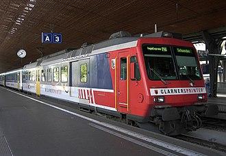 SBB-CFF-FFS RBDe 560 - Glarner Sprinter color scheme in Zürich HB