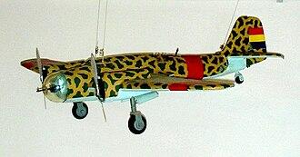 Spanish Republican Air Force - Model of a Spanish Republican Tupolev SB2 Katyuska, La Sénia Museum.