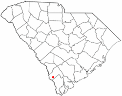 Location of Scotia, South Carolina