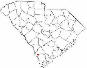 Scotia, South Carolina - Image: SC Map doton Scotia