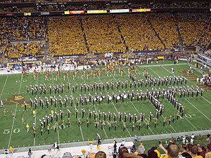 Sun Devil Marching Band - Image: SDMB Pitchfork Drill Formation