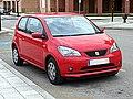 SEAT Mii 3 Door Style Rojo Tornado 2014 3-4 Front.jpg