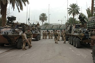 3rd Brigade (Australia) - Personnel from SECDET X, which included members of 3rd Brigade, in Bagdad, March 2007