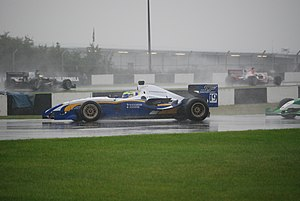 Duncan Tappy - Tappy at the opening round of the 2008 Superleague Formula season driving the Tottenham Hotspur car