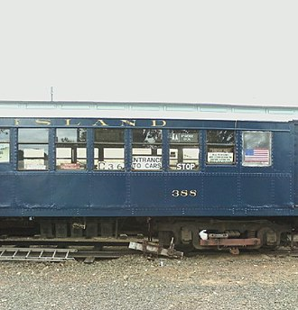 ME-1 (New York City Subway car) - SIRT ME-1 Car 388 on display at the Shore Line Trolley Museum in 2010.