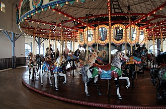 Santa Monica Looff Hippodrome - Carousel built in 1922 and installed in the hippodrome in 1947