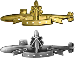 SSBN Deterrent Patrol insignia - SSBN Deterrent Patrol Insignia badges without service stars.