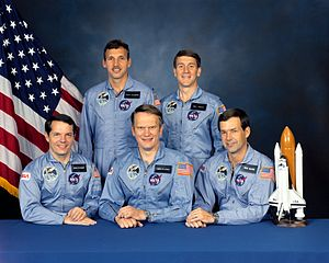 STS-51-J - Image: STS 51 J crew