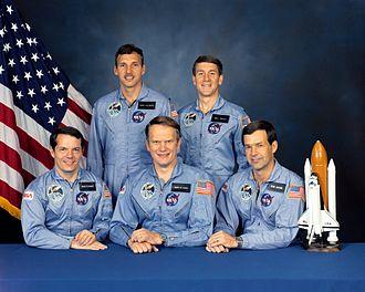 STS-51-J - Image: STS 51 J crew