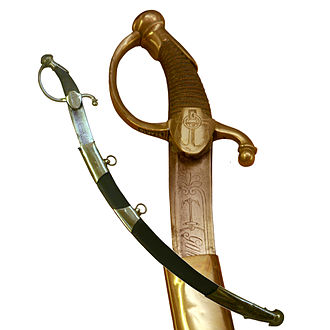 Sabre - Sheathed French sabres of the sailors of the Guard, First Empire