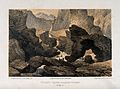Saian Mountains, Mongolia; the crater of a volcano with irre Wellcome V0025205.jpg