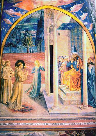 Al-Kamil - Saint Francis of Assisi with the Sultan al-Kamil.15th century. By Benozzo Gozzoli.