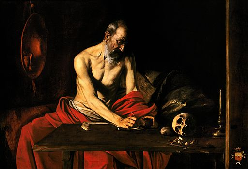 Saint Jerome Writing-Caravaggio (c. 1607)